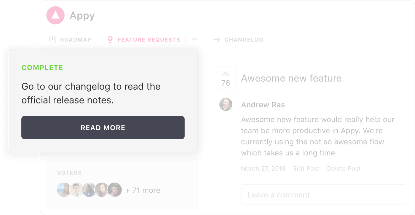 Close the feedback loop with a product changelog